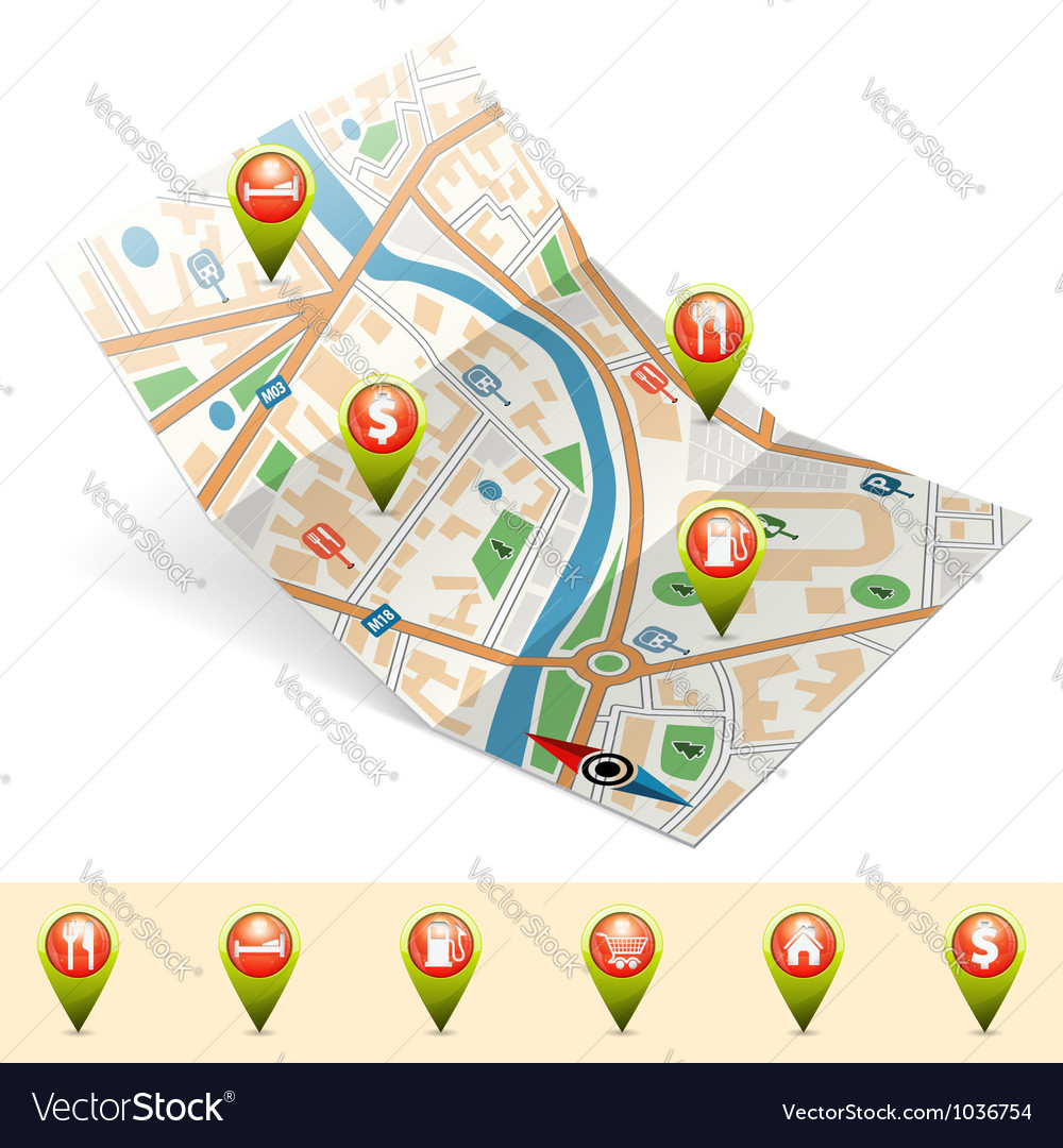 Navigation concept vector | Price: 3 Credit (USD $3)
