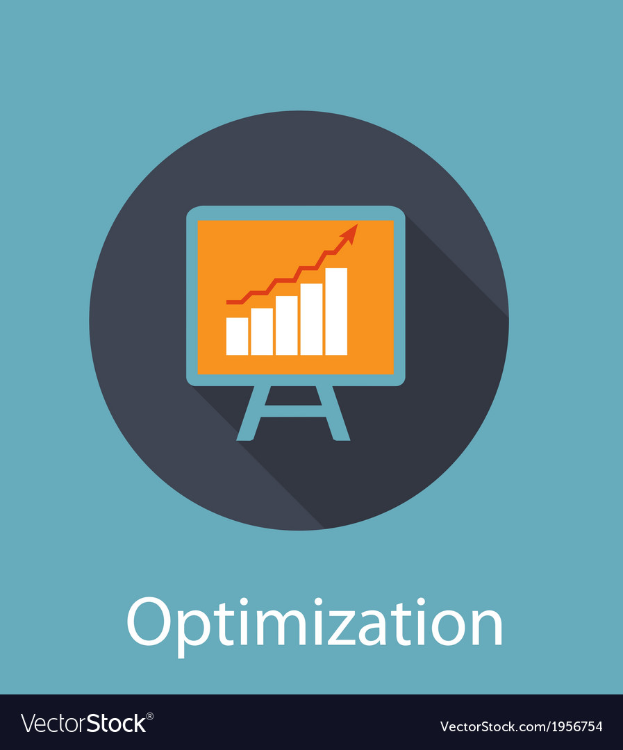 Optimization flat concept icon vector | Price: 1 Credit (USD $1)