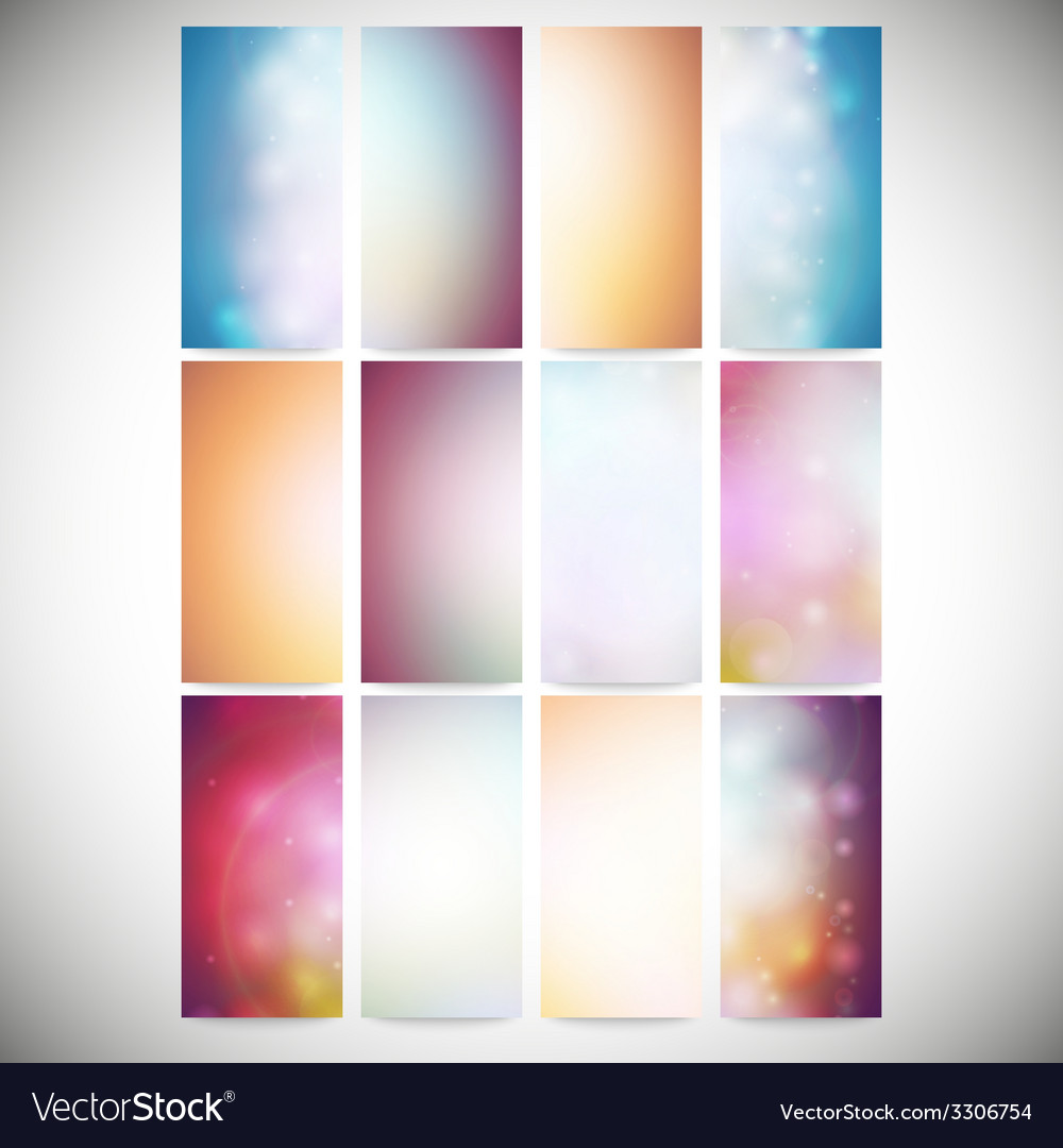 Set of colored abstract backgrounds modern vector | Price: 1 Credit (USD $1)