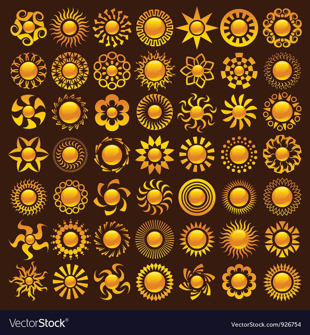 Sun designs vector | Price: 1 Credit (USD $1)