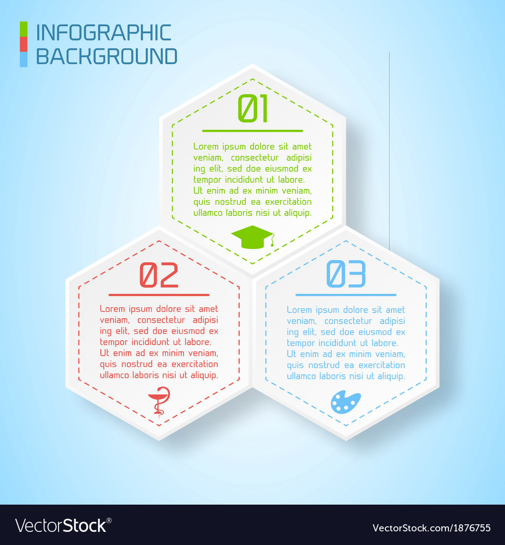 Abstract paper infographic background vector | Price: 1 Credit (USD $1)