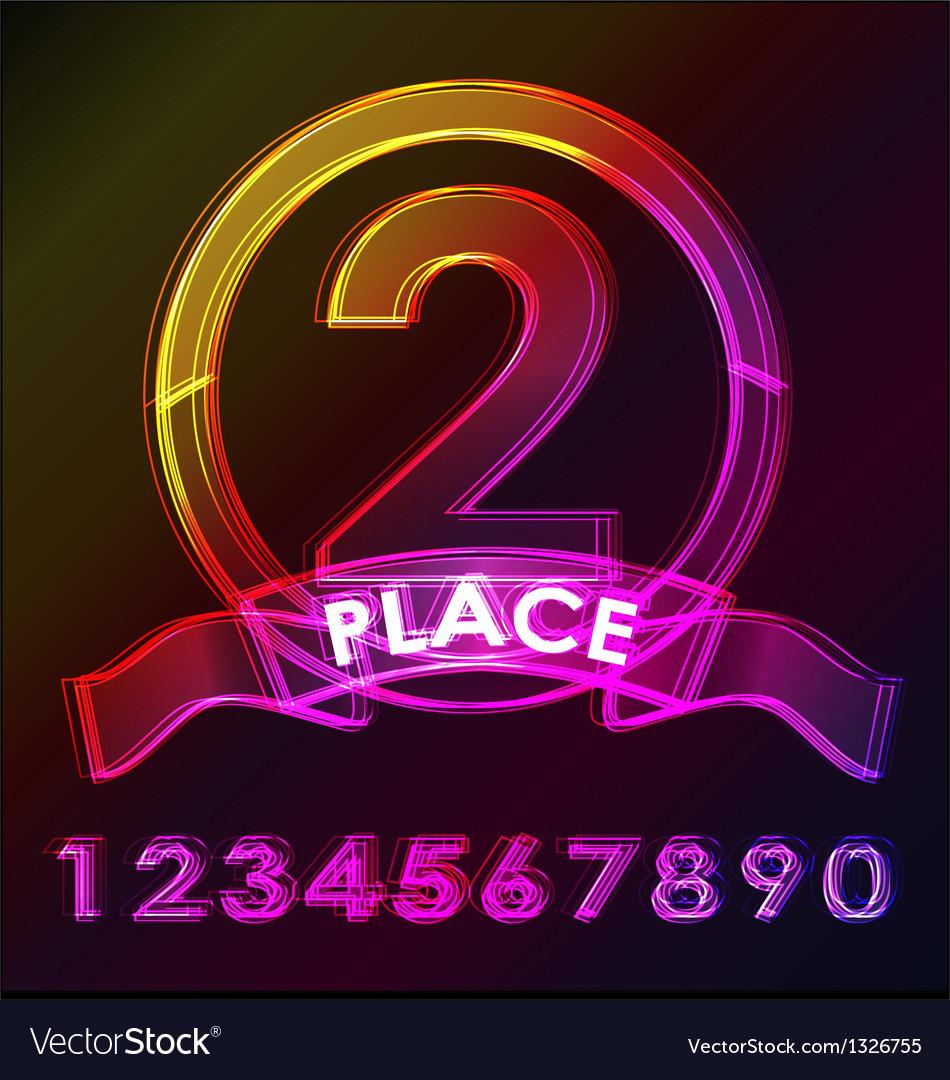 Award badge glowing vector | Price: 1 Credit (USD $1)