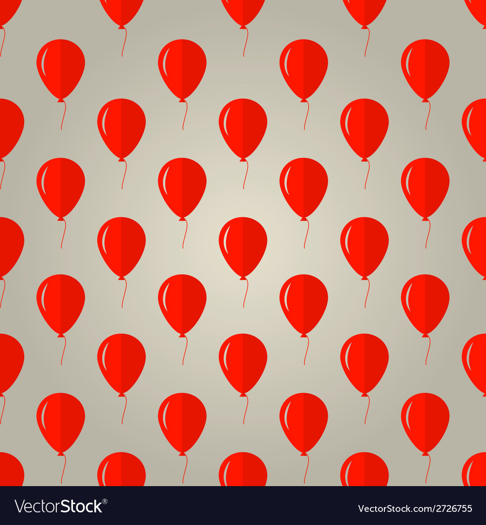 Background for red balloons vector | Price: 1 Credit (USD $1)