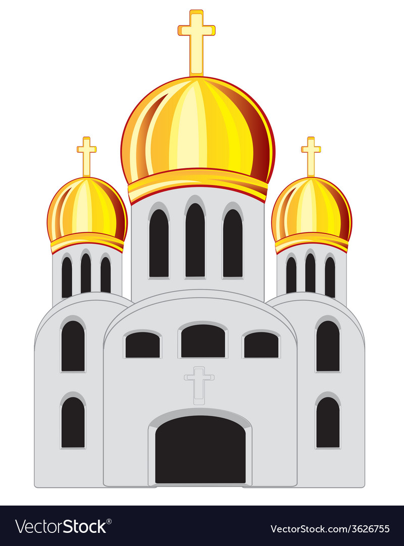 Building church vector | Price: 1 Credit (USD $1)