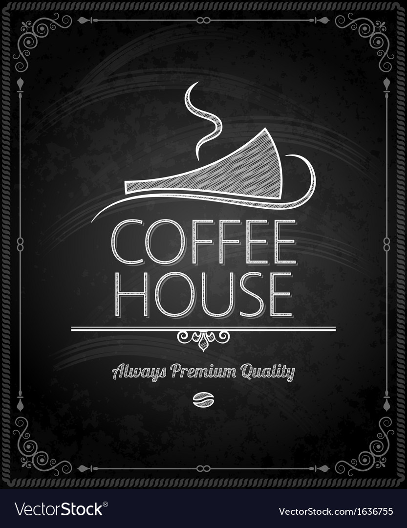 Chalkboard coffee vector | Price: 1 Credit (USD $1)