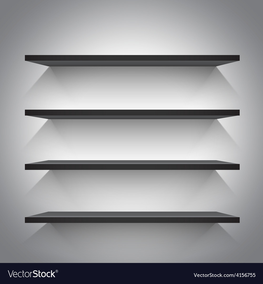 Empty black shelves vector | Price: 1 Credit (USD $1)