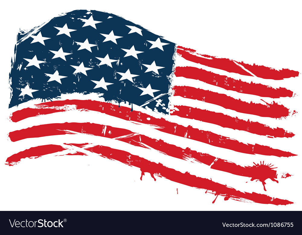 Grunge usa flag vector | Price: 1 Credit (USD $1)