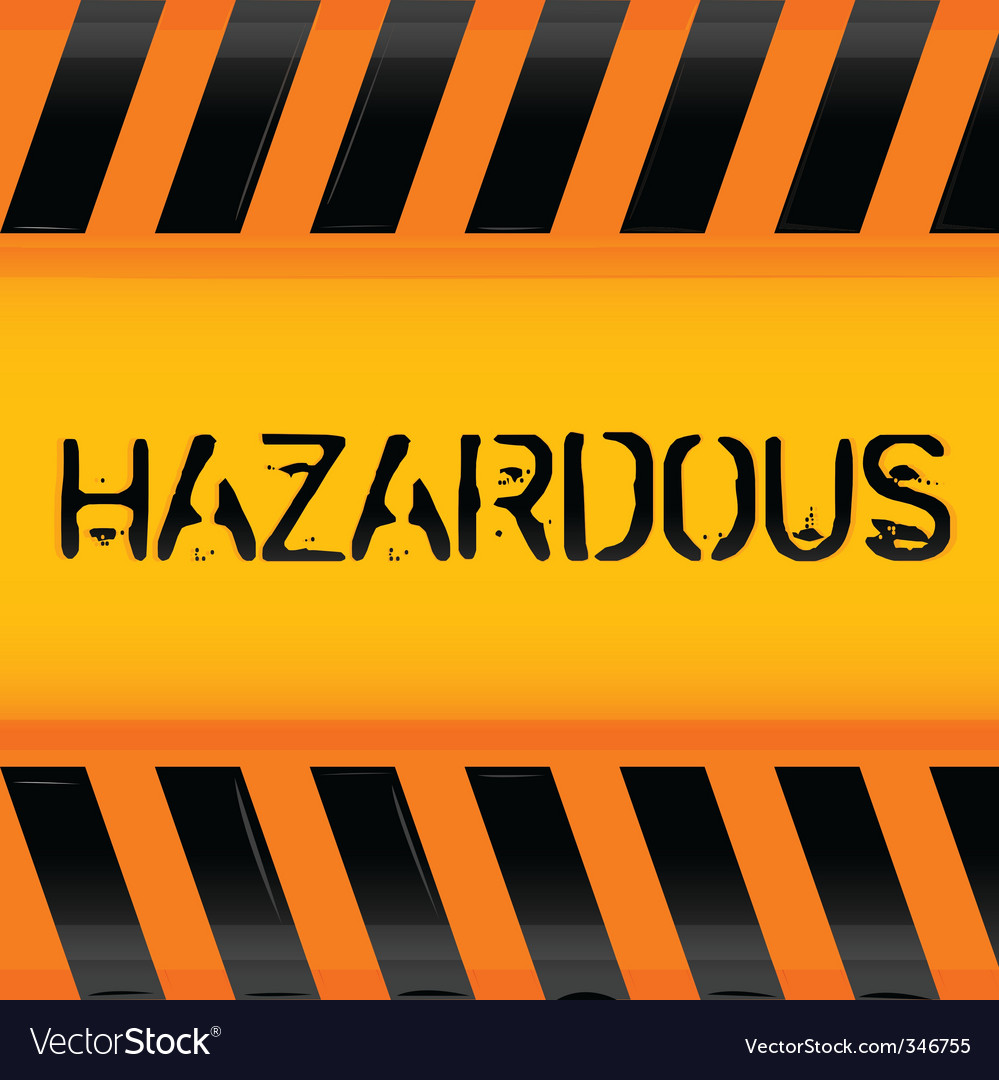 Hazardous icon vector | Price: 1 Credit (USD $1)