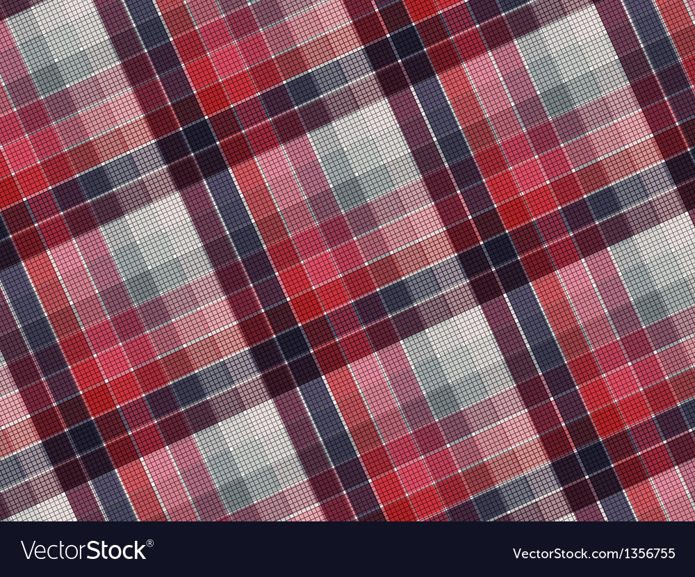 Plaid fabric texture vector | Price: 1 Credit (USD $1)
