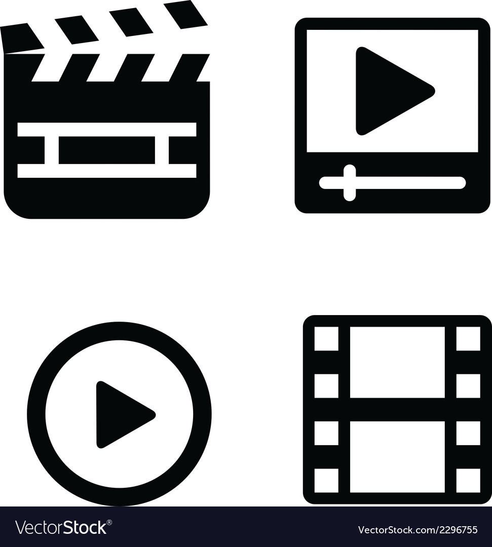 Set of movie icons vector   Price: 1 Credit (USD $1)