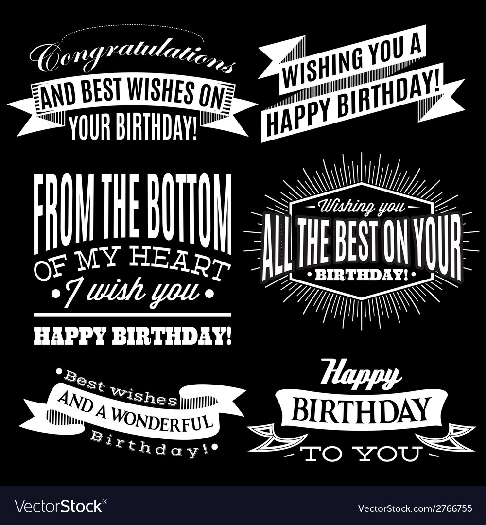 Set of patterns for congratulations a happy birthd vector | Price: 1 Credit (USD $1)