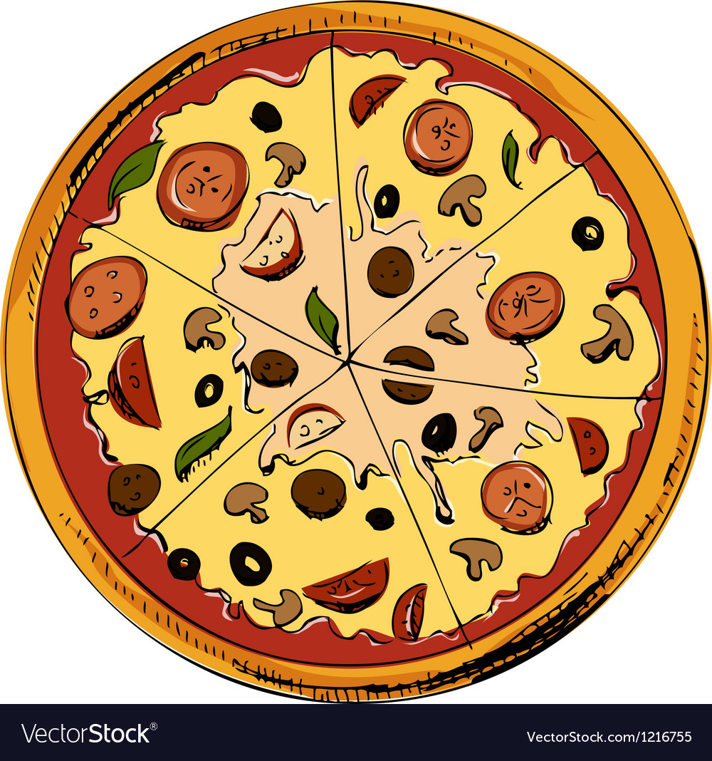 Sliced pizza icon vector | Price: 1 Credit (USD $1)