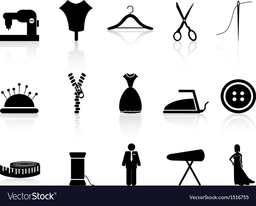 Tailor icons set vector | Price: 1 Credit (USD $1)