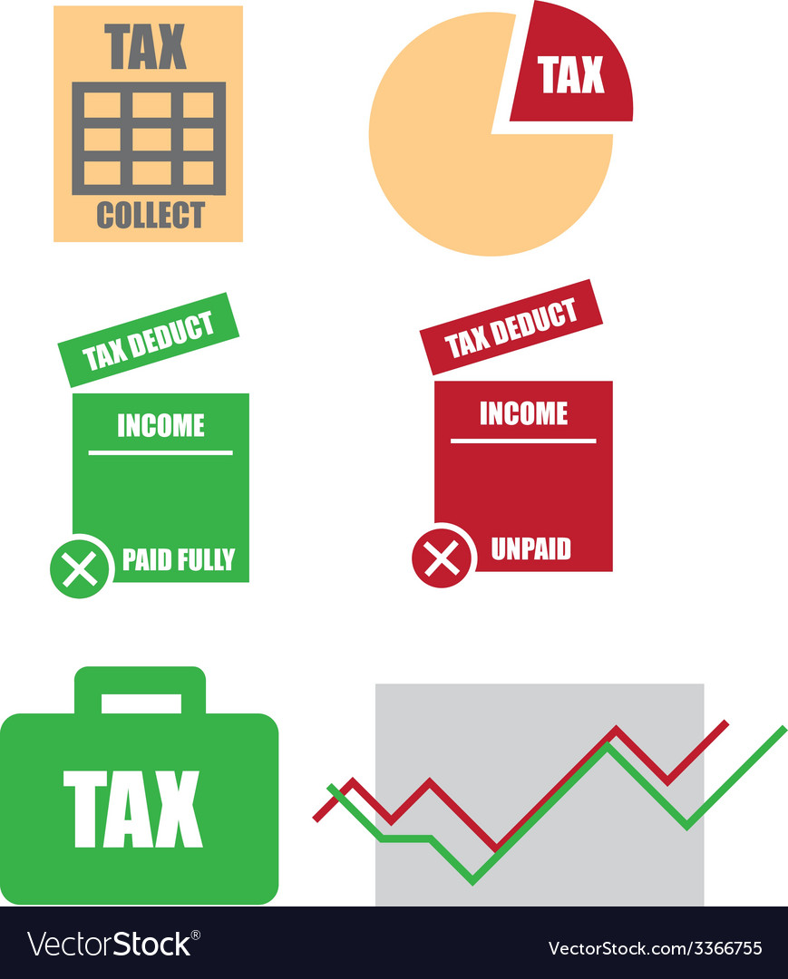 Tax icons pack vector | Price: 1 Credit (USD $1)