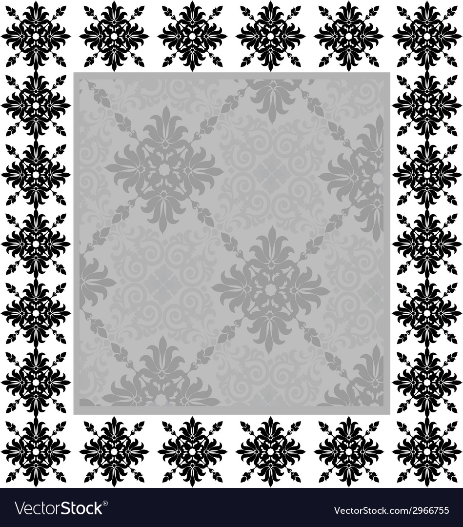 Vintage frame on the wall vector | Price: 1 Credit (USD $1)