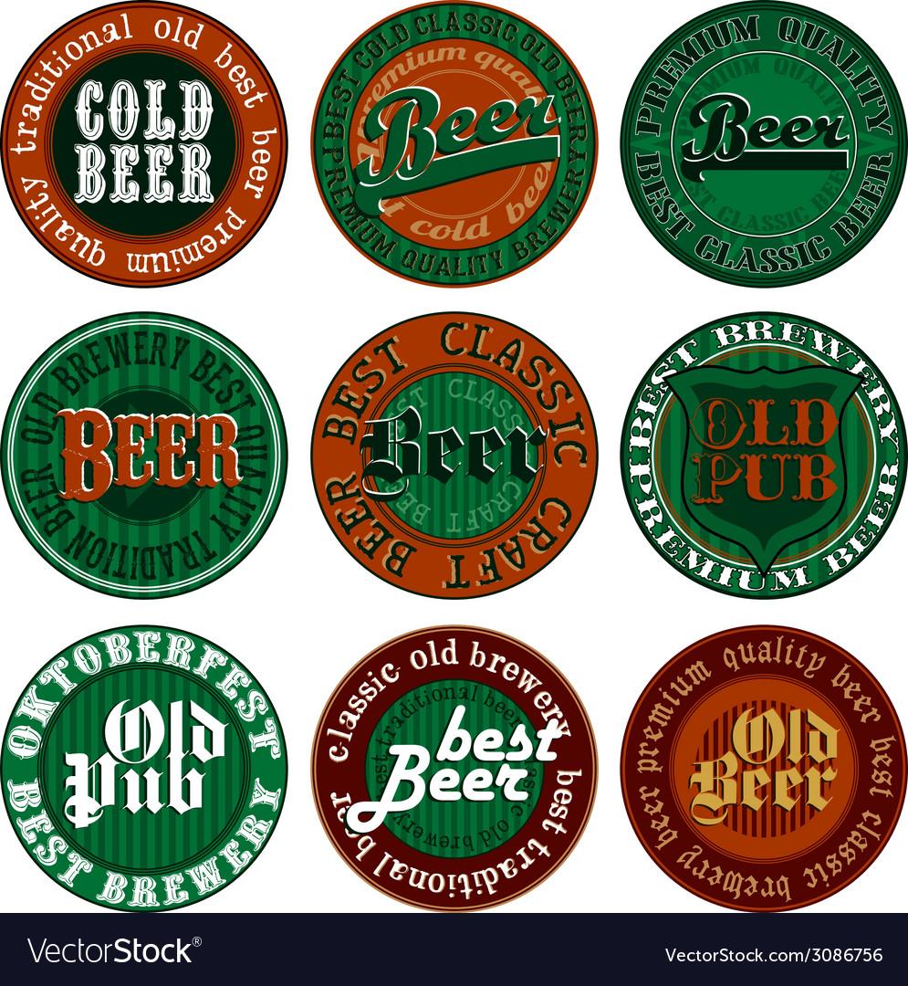 Beer design elements vector | Price: 1 Credit (USD $1)