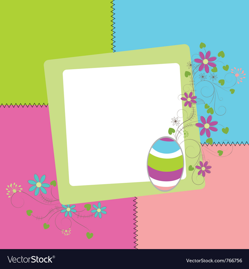 Easter colored card vector | Price: 1 Credit (USD $1)