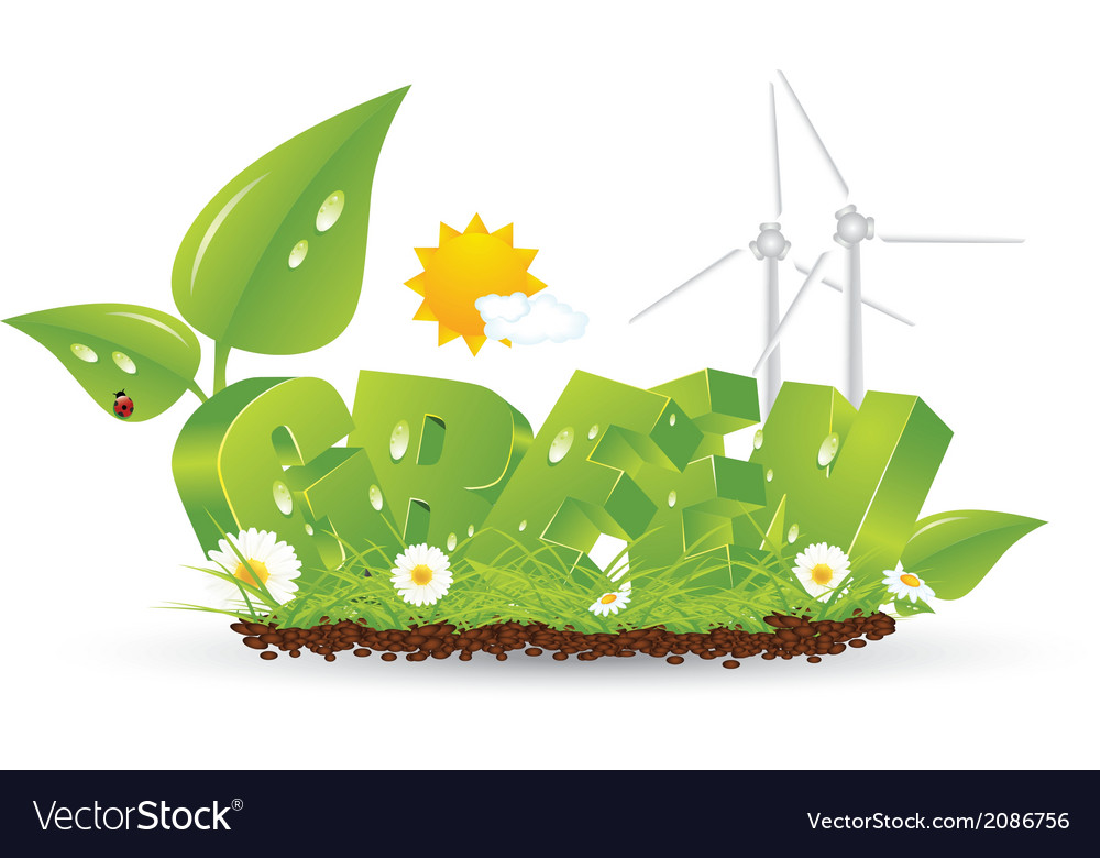 Ecology green nature vector | Price: 1 Credit (USD $1)