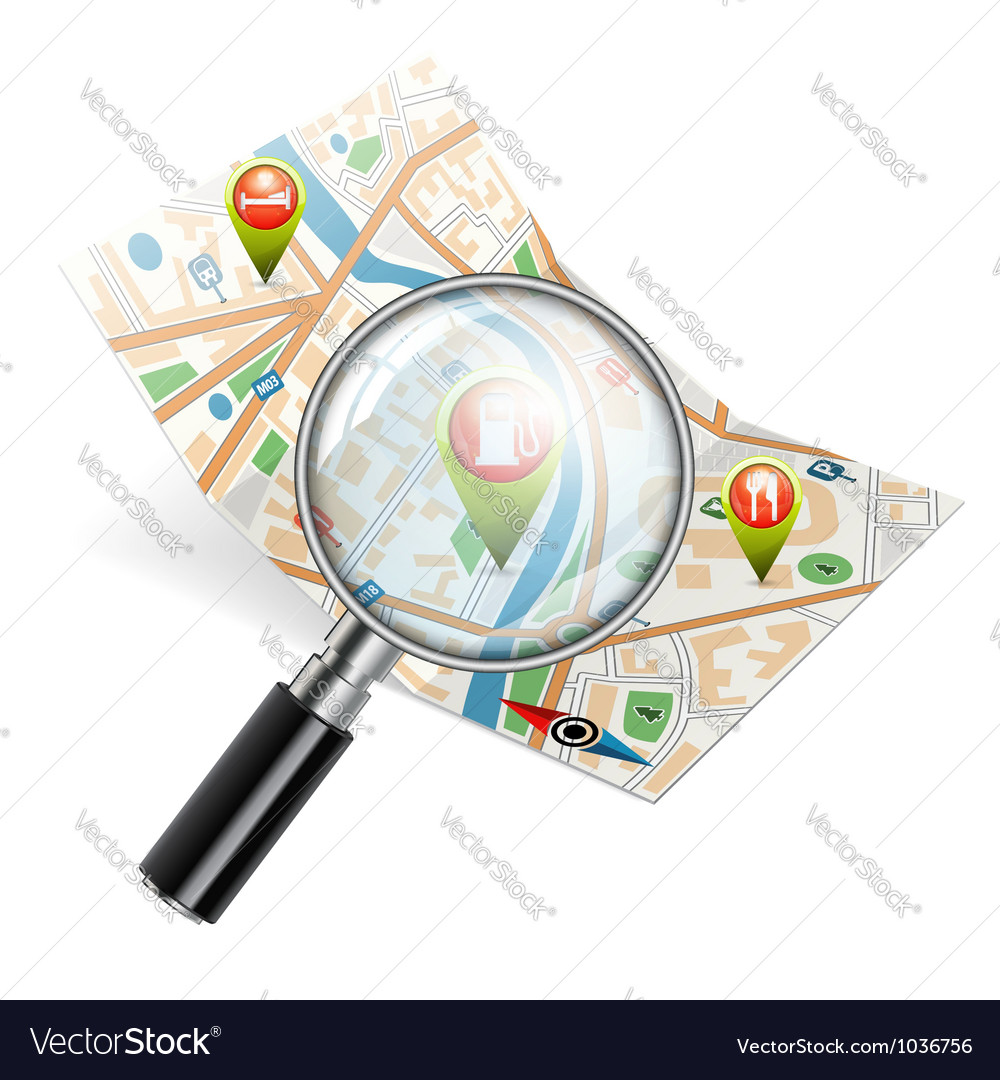 Navigation search concept vector | Price: 3 Credit (USD $3)