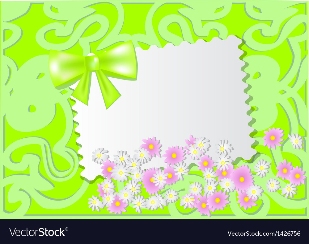 Paper card with wild flowers vector | Price: 1 Credit (USD $1)