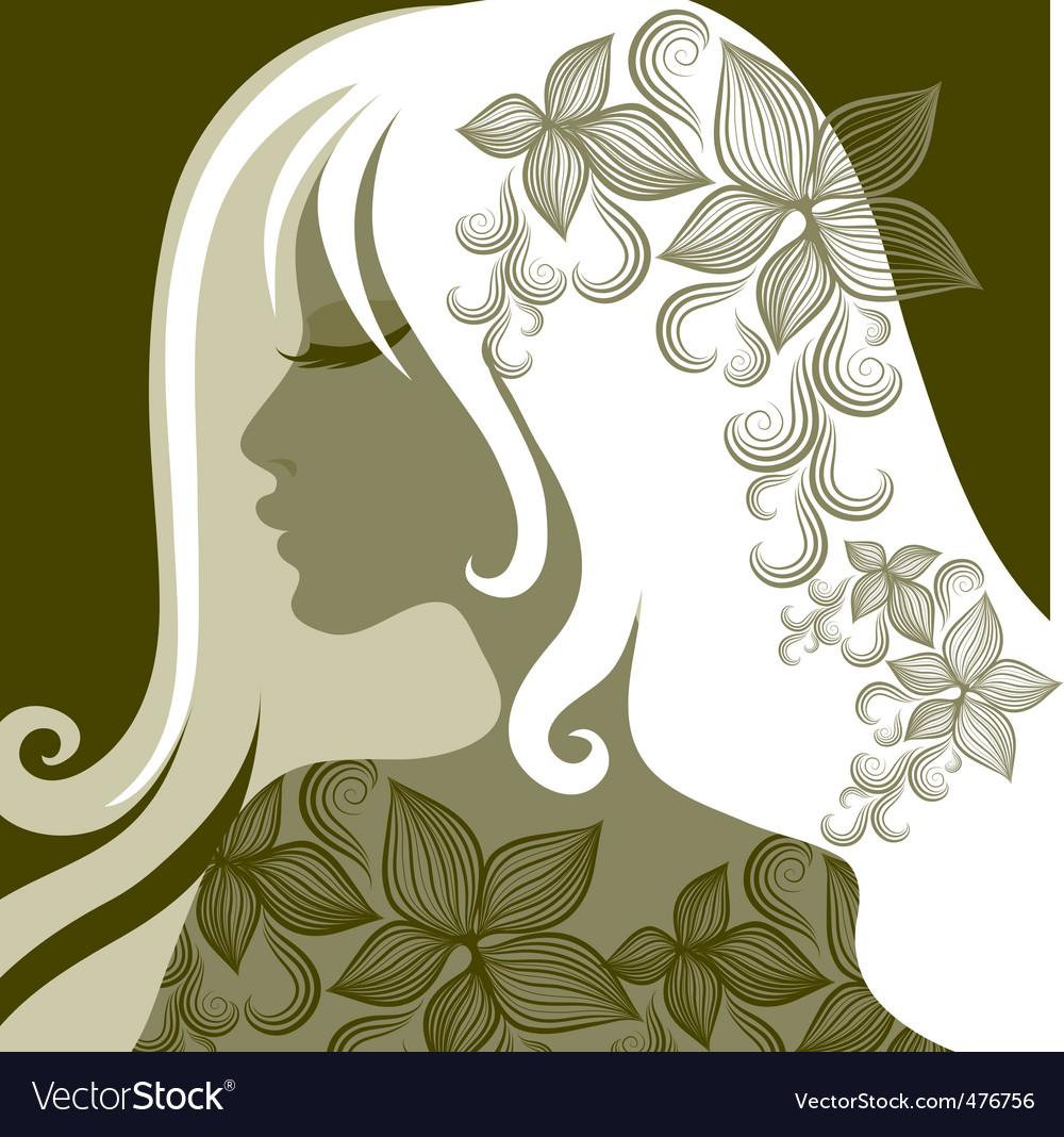 Woman portrait vector | Price: 1 Credit (USD $1)