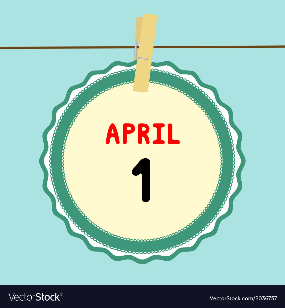 1 april calendar vector | Price: 1 Credit (USD $1)