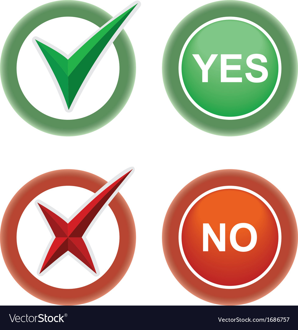 Button yes and no vector   Price: 1 Credit (USD $1)
