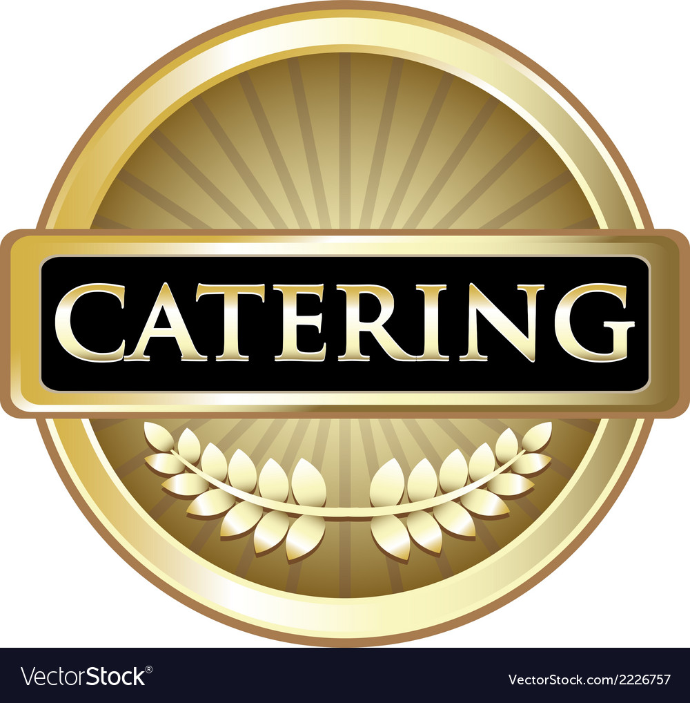 Catering gold label vector | Price: 1 Credit (USD $1)