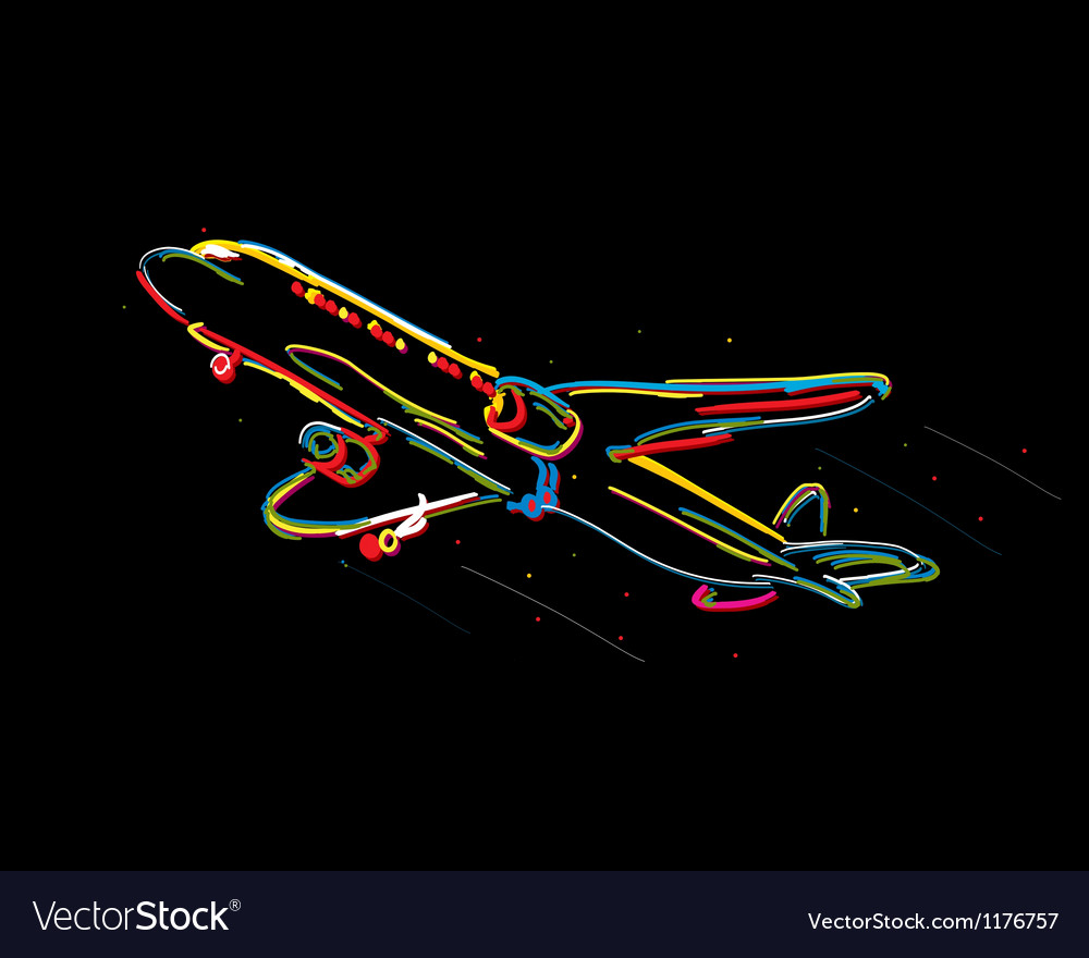 Funky airplane vector | Price: 1 Credit (USD $1)