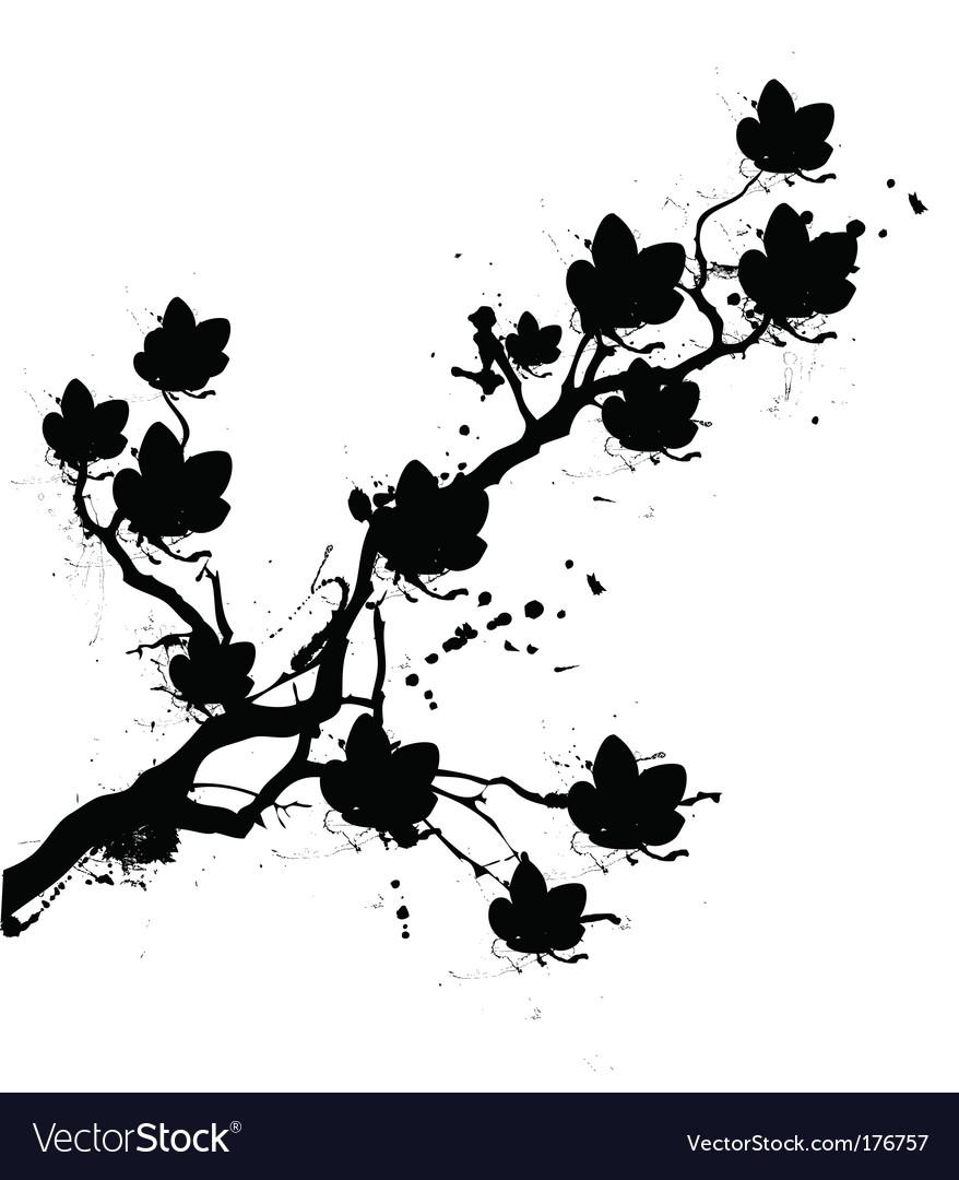 Grunge cherry blossom vector | Price: 1 Credit (USD $1)