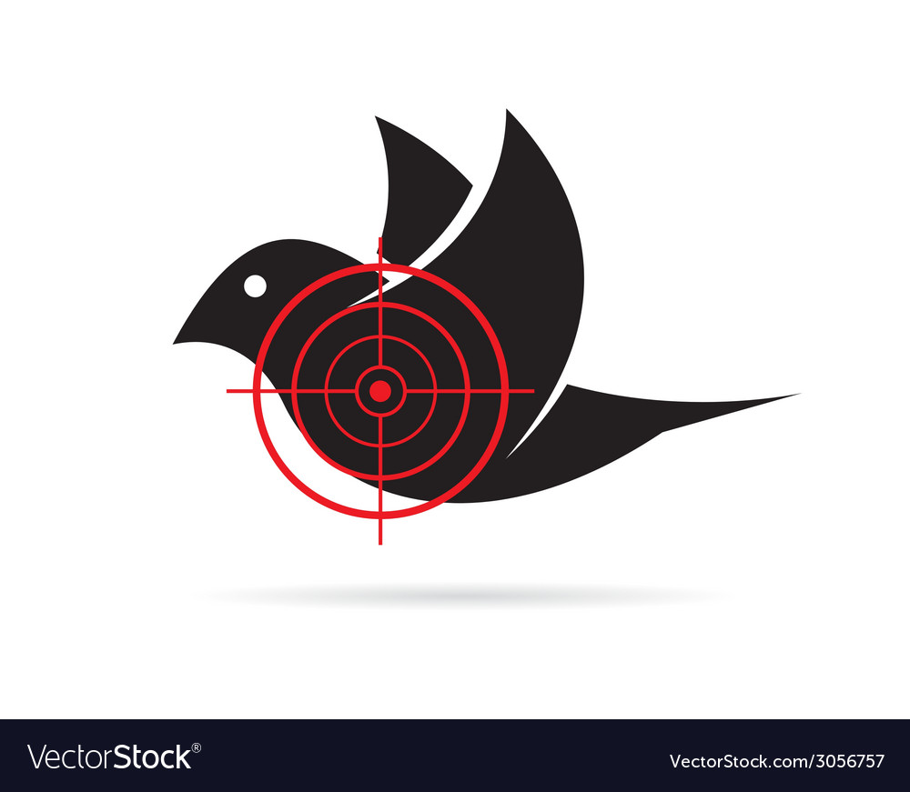 Image of bird target vector | Price: 1 Credit (USD $1)