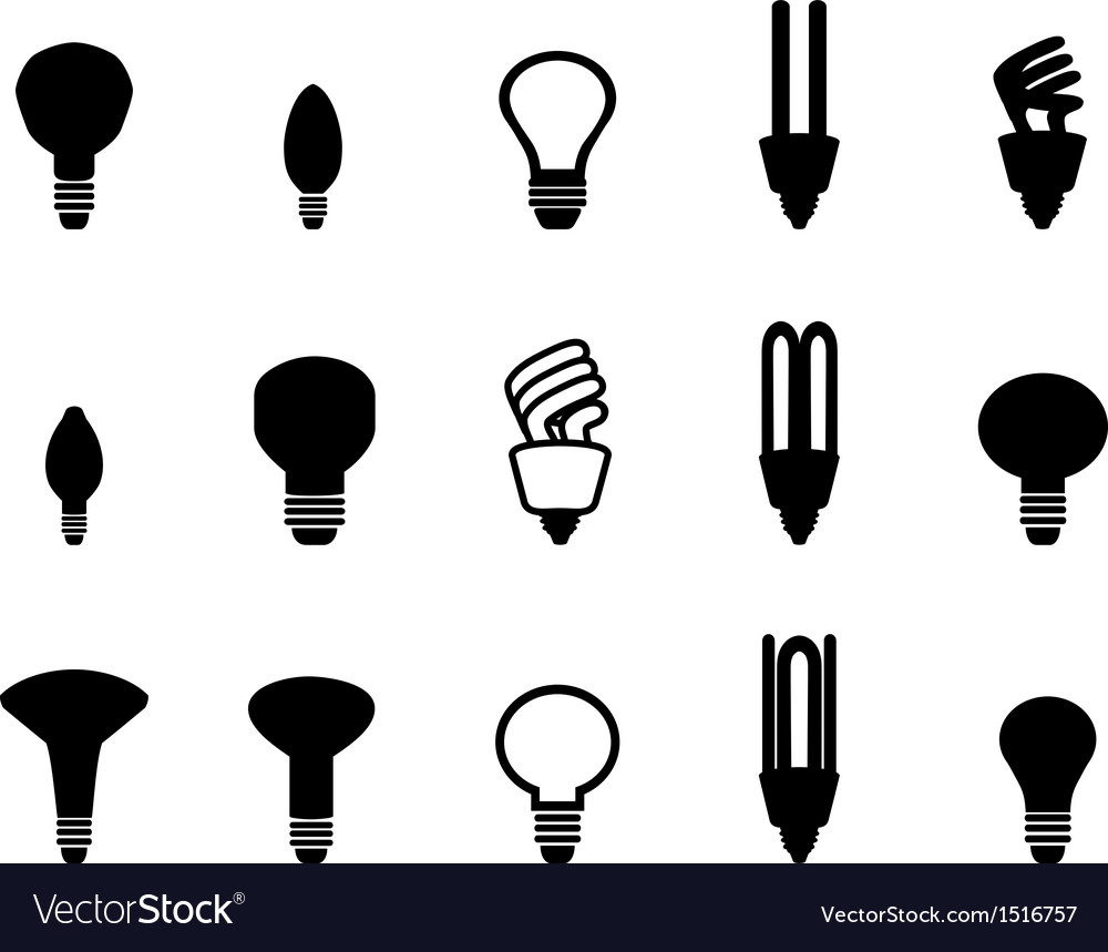 Light bulbs shape collection vector | Price: 1 Credit (USD $1)