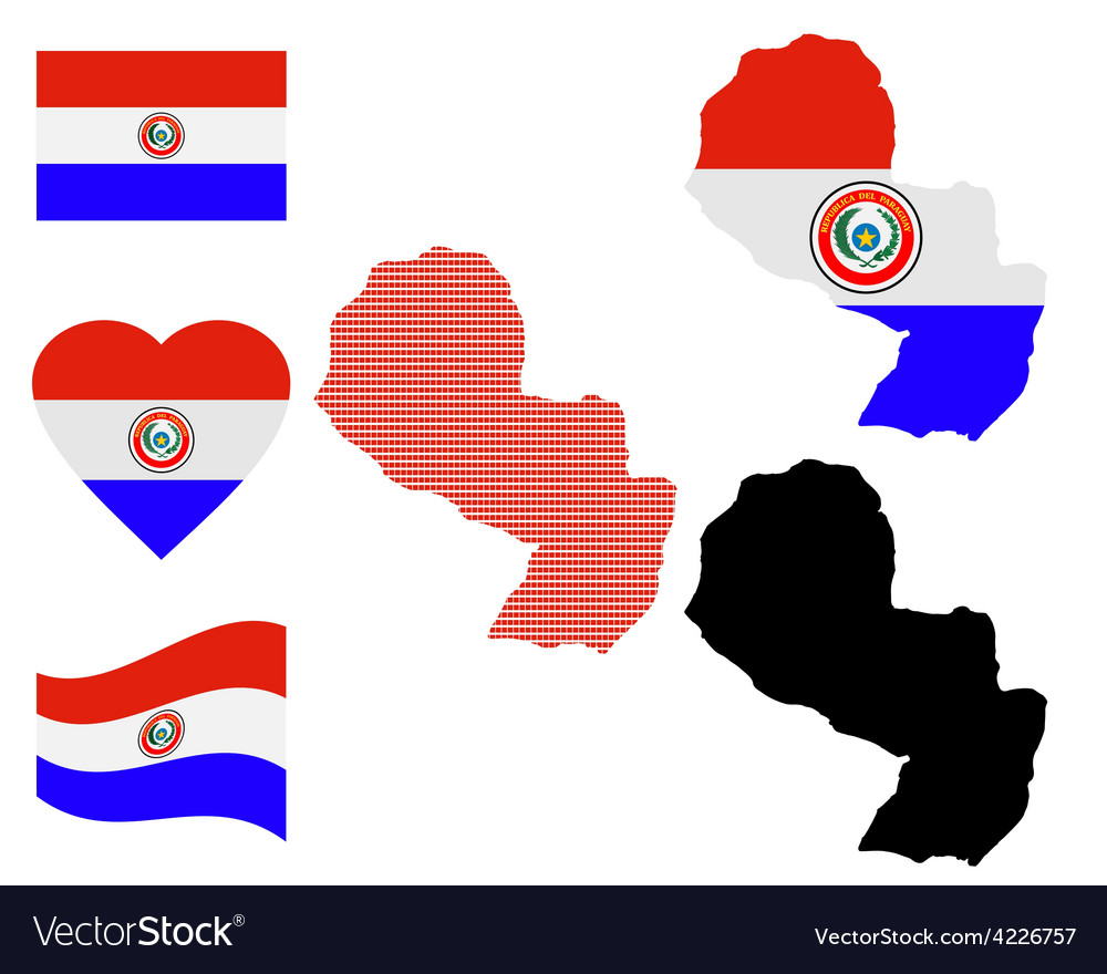 Map of paraguay vector | Price: 1 Credit (USD $1)