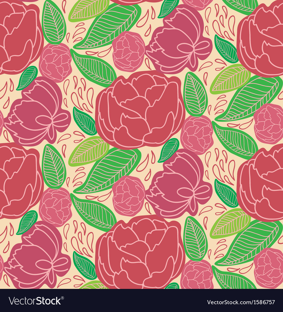 Peony vector | Price: 1 Credit (USD $1)