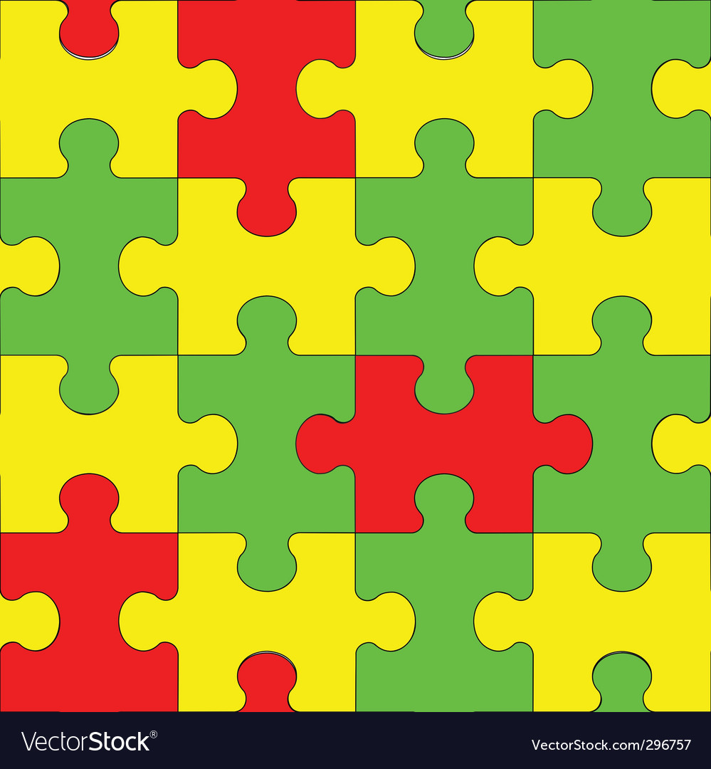 Puzzle seamless pattern vector | Price: 1 Credit (USD $1)