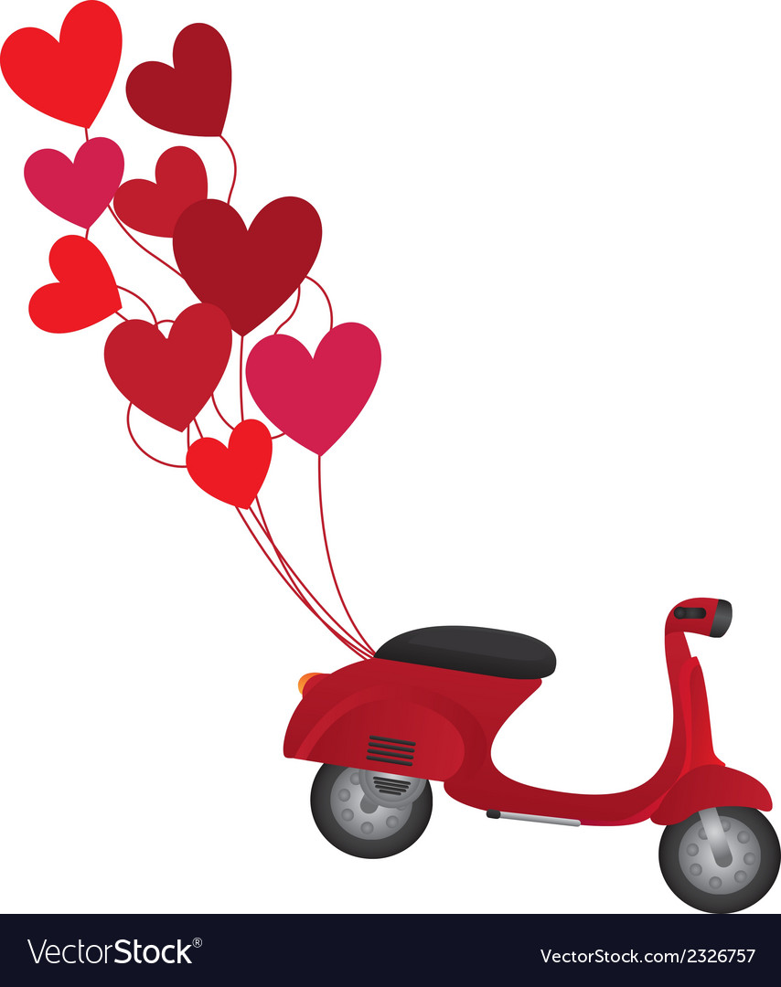 Red motorbike vector | Price: 1 Credit (USD $1)