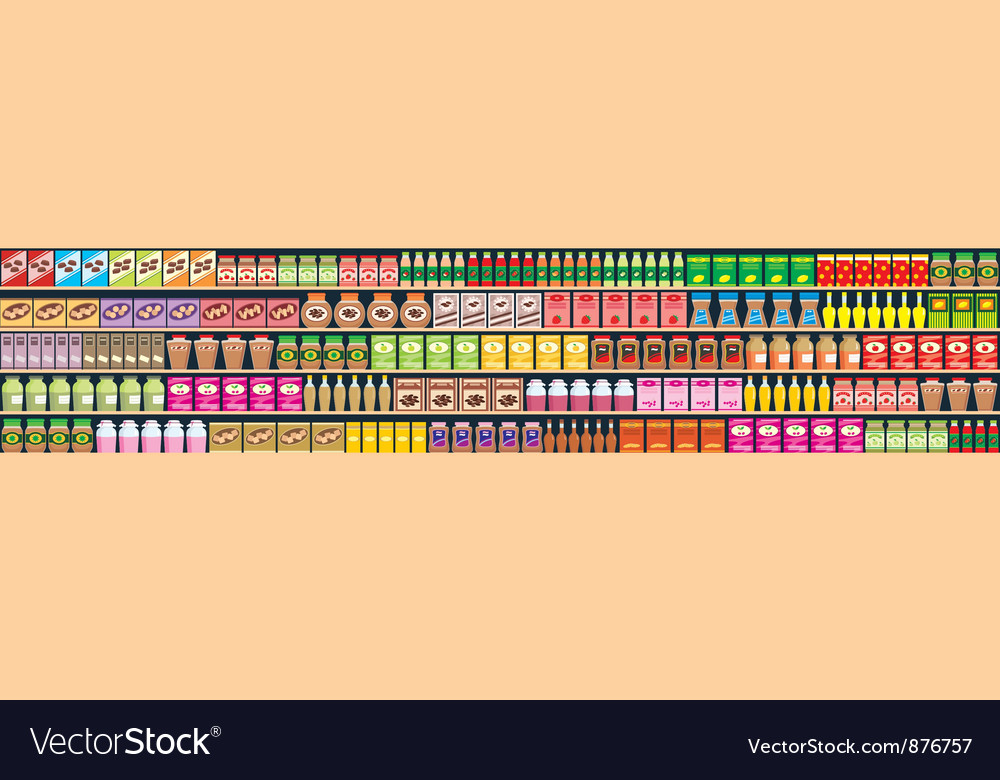 Seamless regiments with products banner vector | Price: 1 Credit (USD $1)