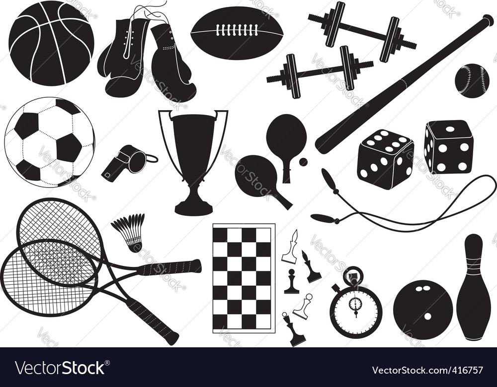 Sports equipment vector | Price: 1 Credit (USD $1)