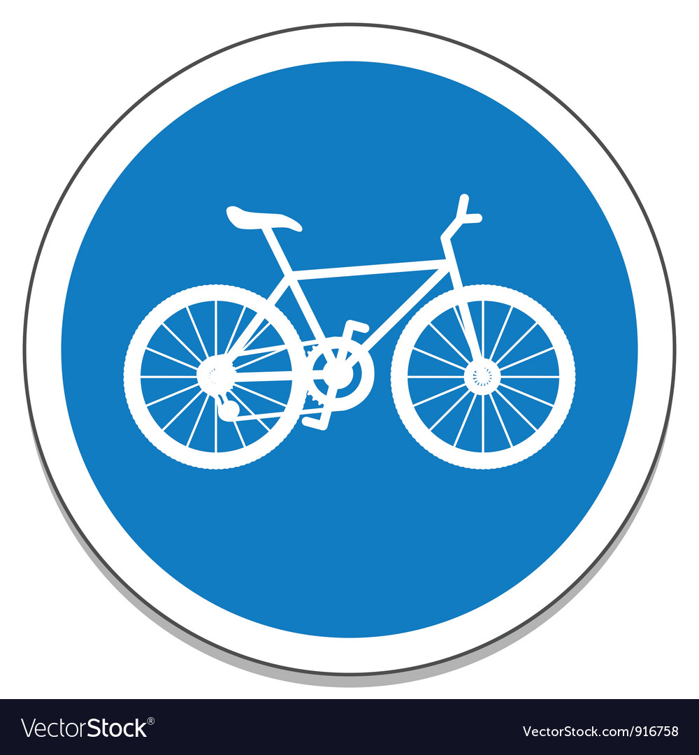 Bicycle sign vector | Price: 1 Credit (USD $1)