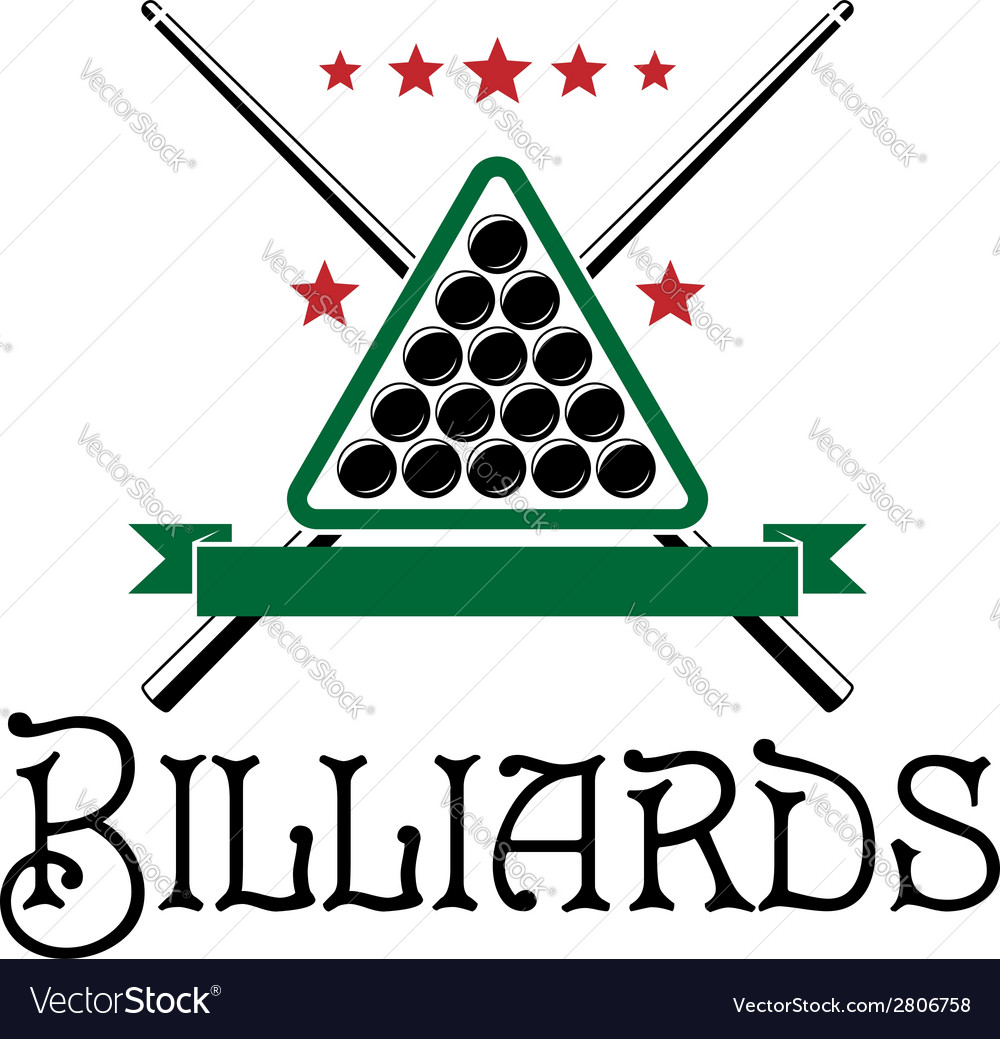 Billiards club emblem vector | Price: 1 Credit (USD $1)