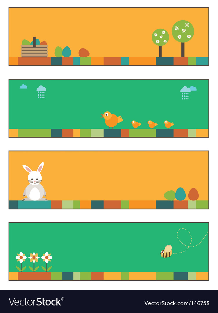 Easter banners vector | Price: 1 Credit (USD $1)