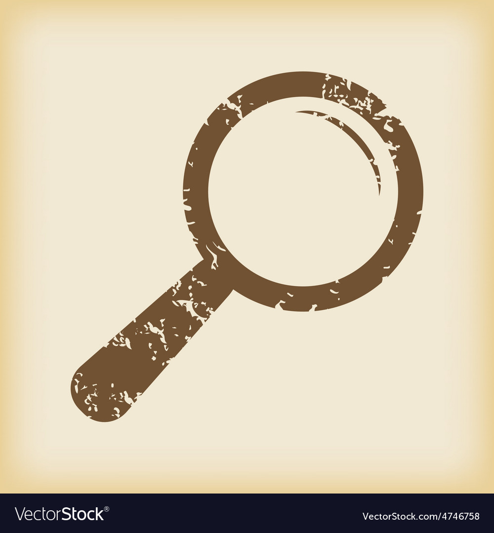 Grungy search icon vector | Price: 1 Credit (USD $1)