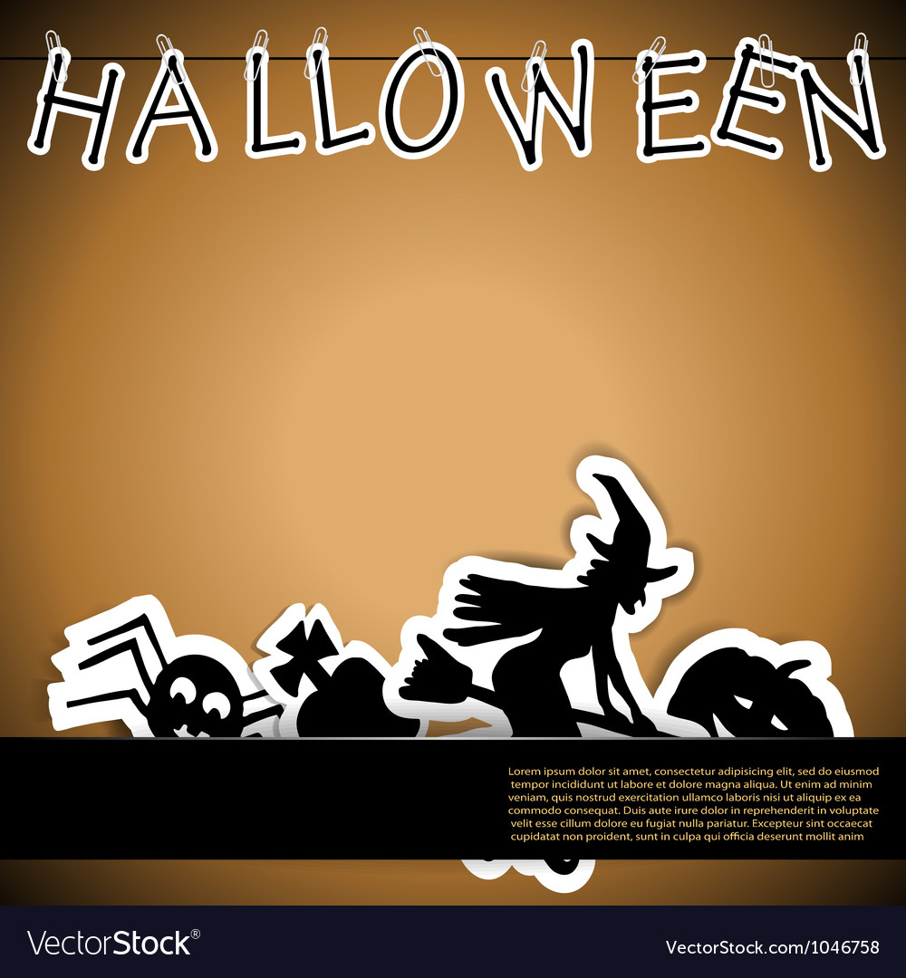 Halloween card with stickers vector   Price: 1 Credit (USD $1)