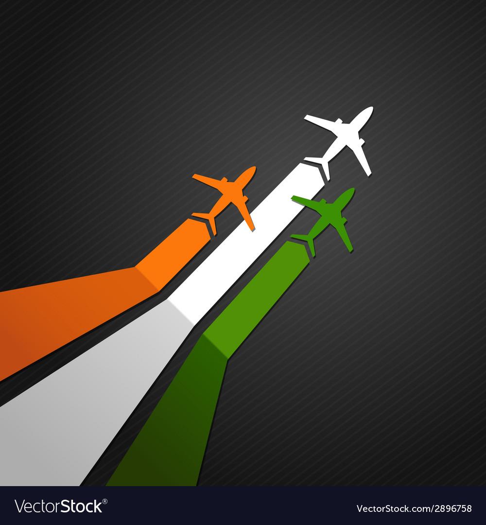 India plane vector | Price: 1 Credit (USD $1)