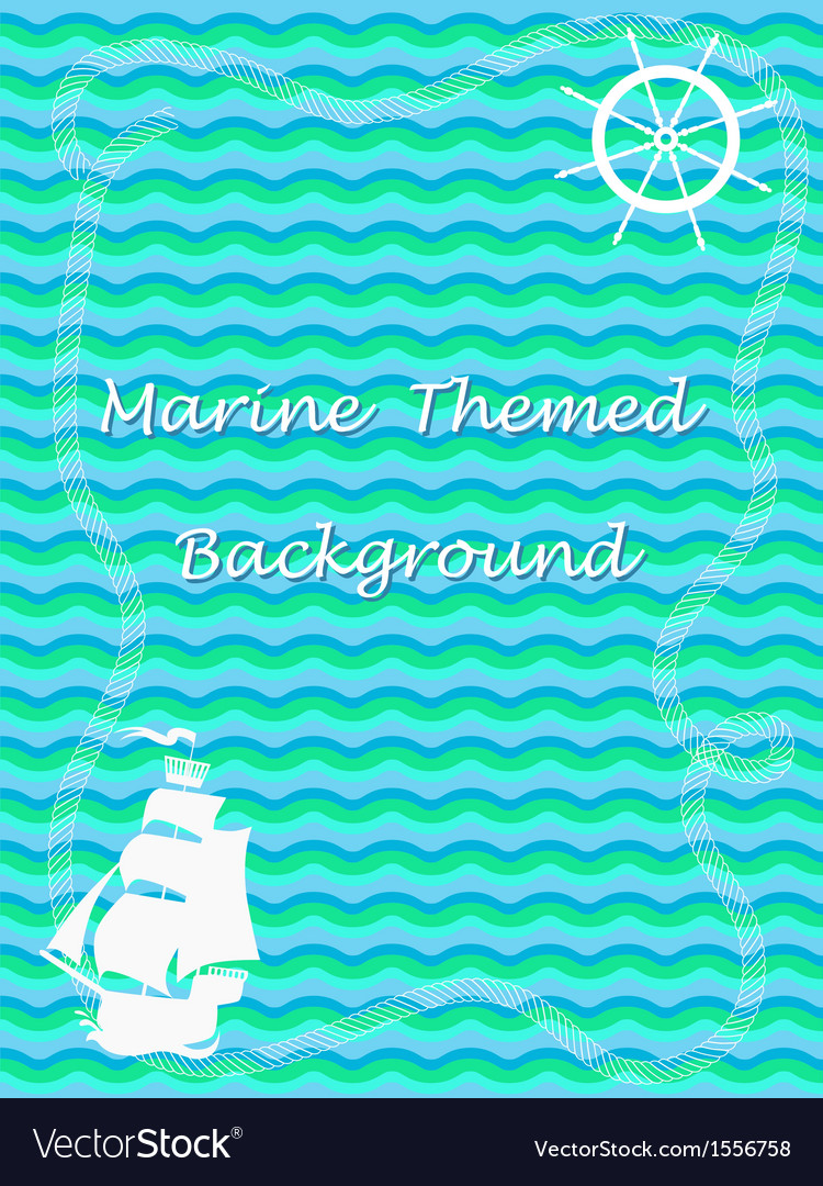 Marine theme background vector | Price: 1 Credit (USD $1)