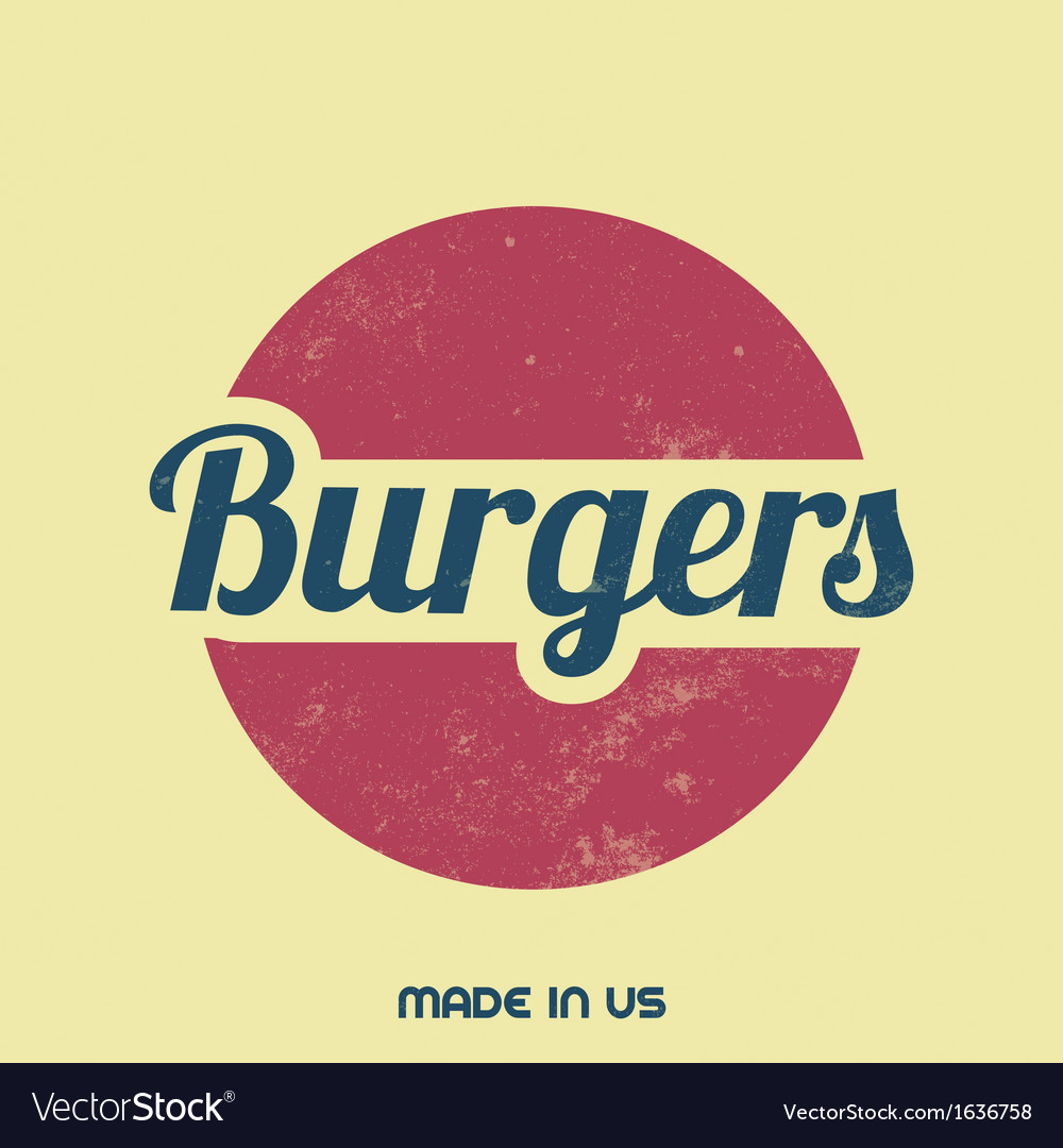 Retro food sign vintage background vector | Price: 1 Credit (USD $1)