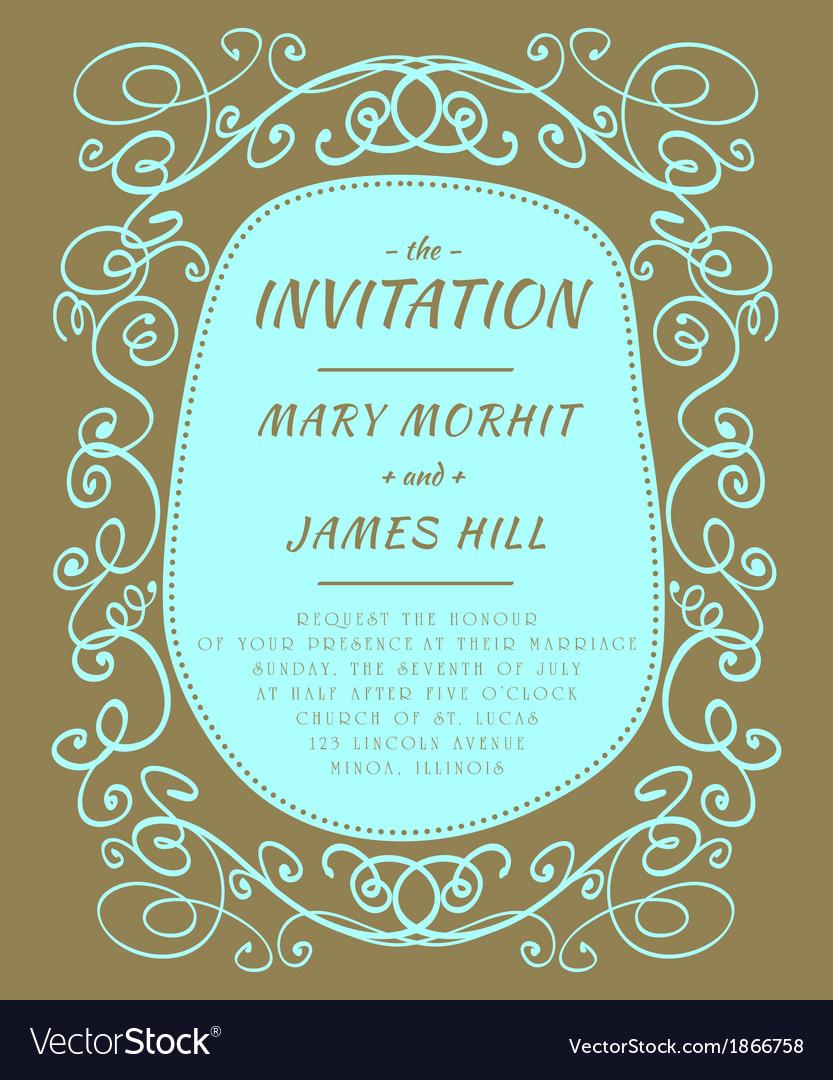 Scribble invitation vector   Price: 1 Credit (USD $1)