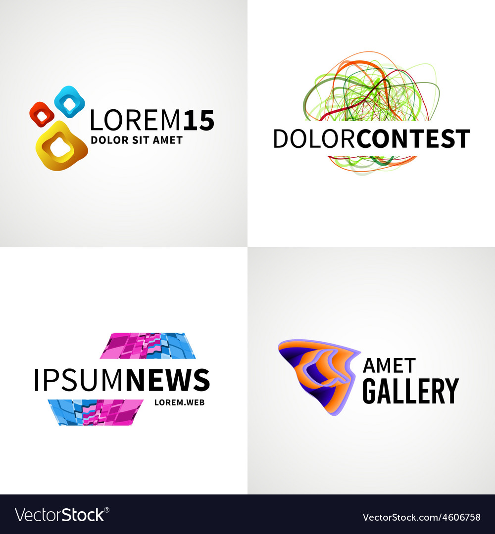 Set of modern colorful abstract news web contest vector   Price: 1 Credit (USD $1)