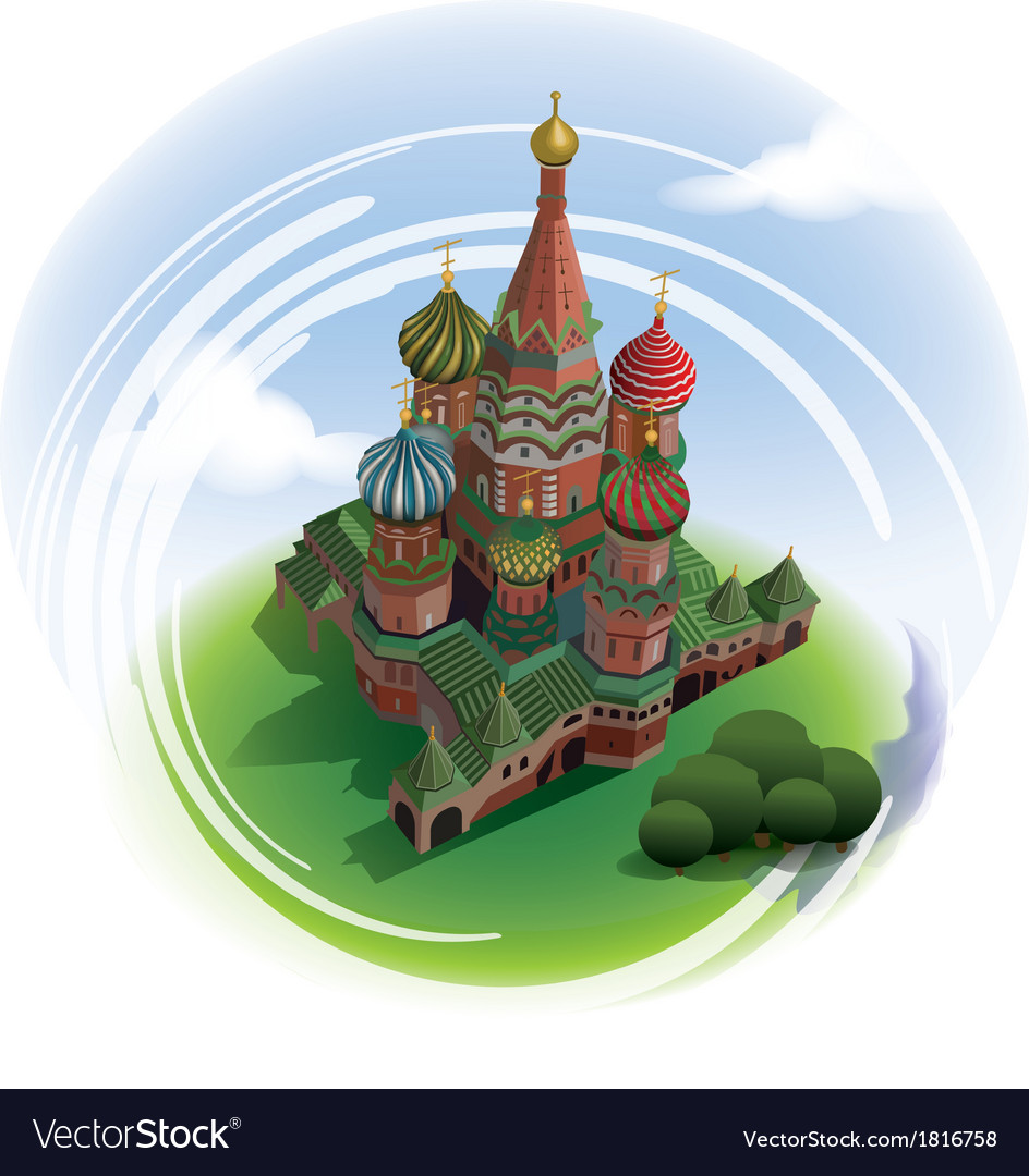 St basils cathedral from top vector | Price: 3 Credit (USD $3)