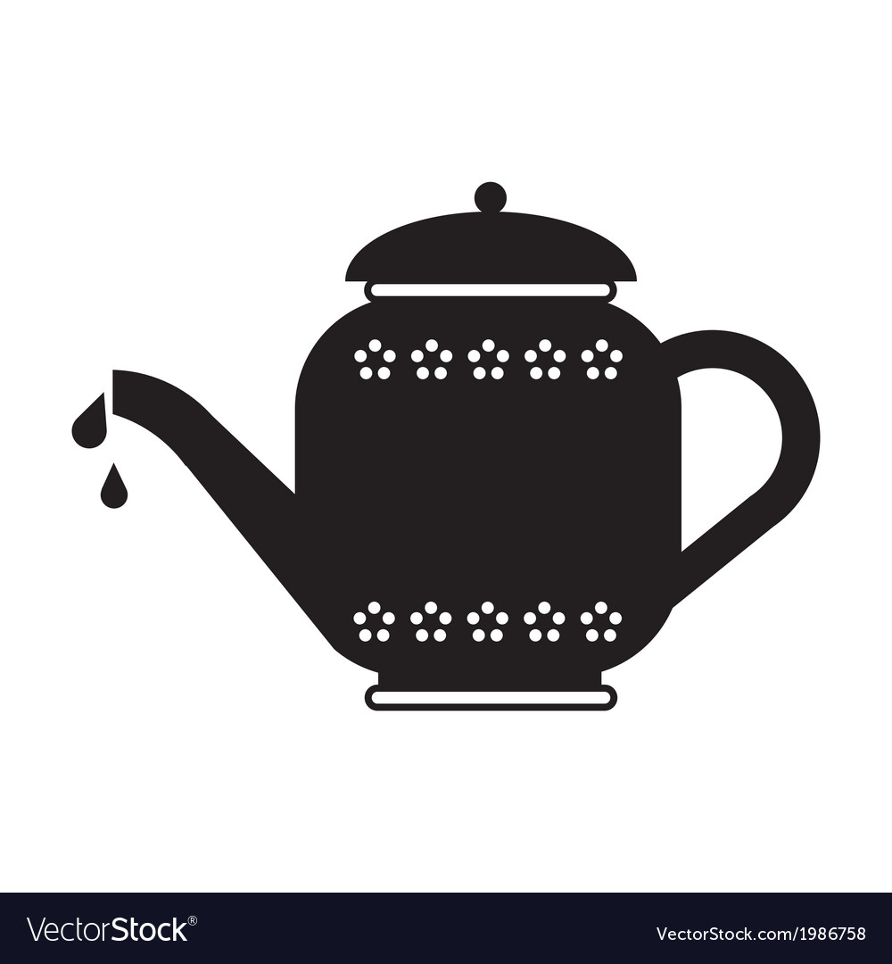 Tea pot vector | Price: 1 Credit (USD $1)